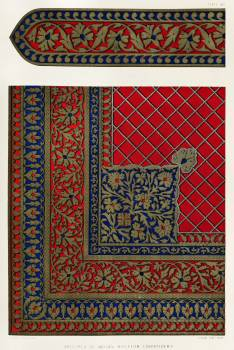Specimen of Indian bullion embroidery from the Industrial arts of the Nineteenth Century (1851-1853) by Sir Matthew Digby wyatt (1820-1877). #397147
