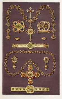 Jewellery design from the Industrial arts of the Nineteenth Century (1851-1853) by Sir Matthew Digby wyatt (1820-1877). #397176