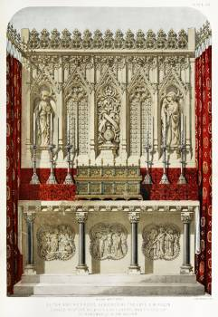 Altar and reredos from the Industrial arts of the Nineteenth Century (1851-1853) by Sir Matthew Digby wyatt (1820-1877). #397184