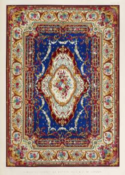 Axminster carpet from the Industrial arts of the Nineteenth Century (1851-1853) by Sir Matthew Digby wyatt (1820-1877). #397208