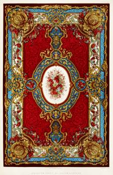 Axminster carpet from the Industrial arts of the Nineteenth Century (1851-1853) by Sir Matthew Digby wyatt (1820-1877). #397273