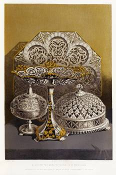 Silversmiths work from the Industrial arts of the Nineteenth Century (1851-1853) by Sir Matthew Digby wyatt (1820-1877). Free Photo