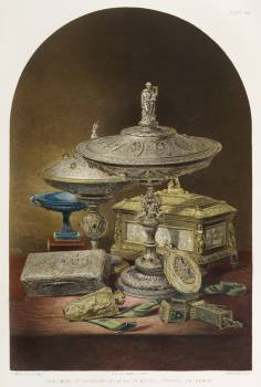 Specimens of silversmiths from the Industrial arts of the Nineteenth Century (1851-1853) by Sir Matthew Digby wyatt (1820-1877). Free Photo