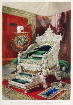 Ivory throne and footstool from the Industrial arts of the Nineteenth Century (1851-1853) by Sir Matthew Digby wyatt (1820-1877). #397325