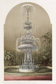 Crystal fountain from the Industrial arts of the Nineteenth Century (1851-1853) by Sir Matthew Digby wyatt (1820-1877). #397453