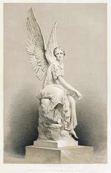 """Victory"" a statue in marble from the Industrial arts of the Nineteenth Century (1851-1853) by Sir Matthew Digby wyatt (1820-1877). #397454"