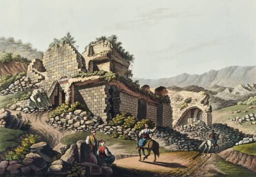 Theatre at Ephesus from Views in the Ottoman Dominions, in Europe, in Asia, and some of the Mediterranean islands (1810) illustrated by Luigi Mayer (1755-1803). #397501