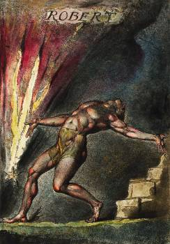Robert illustration from Milton: a Poem, To Justify the Ways of God to Men by William Blake (1752-1827). Original from The New York Public Library.  #397788