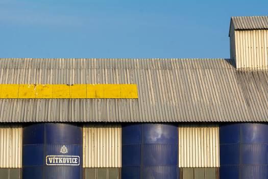 Steel granary - free stock photo Free Photo