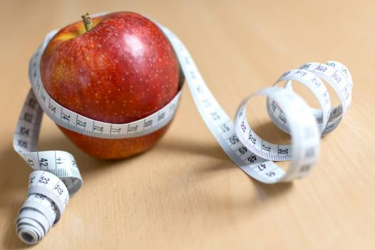 Apple and Measuring Tape - free stock photo #399060