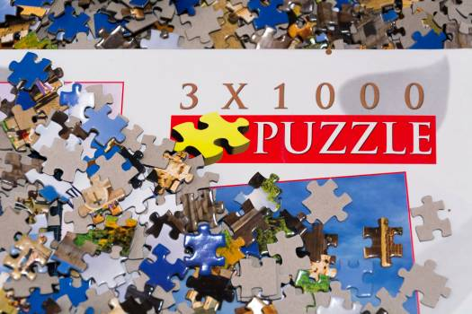 Jigsaw Puzzle Game - free stock photo Free Photo