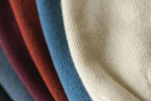 Various Colored Luxury Wool Fabrics - free stock photo Free Photo