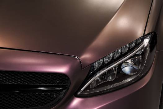 Luxury Pink Car Close-Up - free stock photo #399145