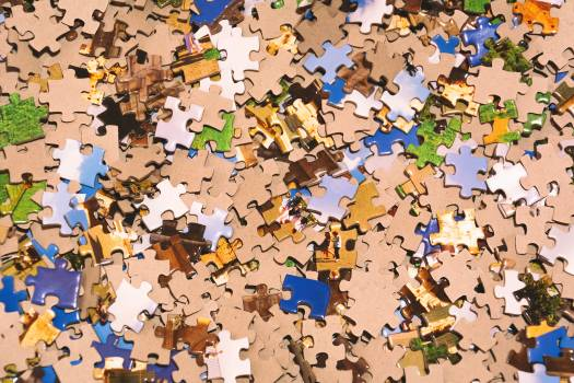 Puzzle Pieces Background - free stock photo #399218