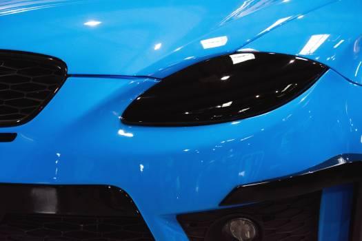 Blue Tuned Car Detail - free stock photo Free Photo