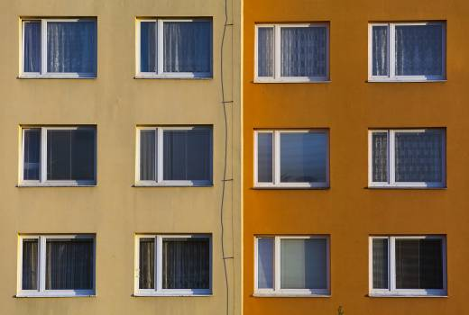 Old block of flats - free stock photo #399250