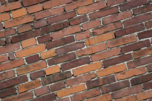 Diagonal brick wall background - free stock photo Free Photo