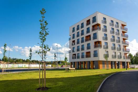 Apartment House Exterior Design - free stock photo Free Photo