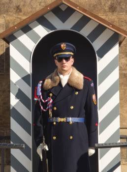 Guard Soldier In Prague Castle - free stock photo #399474
