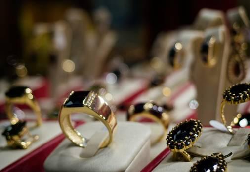 Wedding Rings With Bohemian Garnet - free stock photo Free Photo