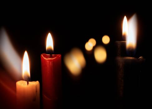 Candles On A Black Background - free stock photo #399653