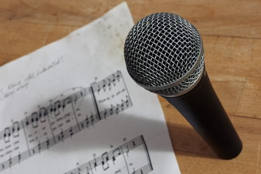 Microphone And Music Notes - free stock photo #399796