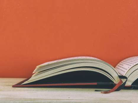 Red background book - free stock photo #399835