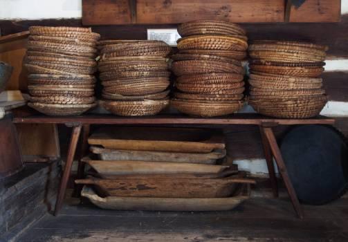 Group of Handmade Wicker Plates - free stock photo #399864