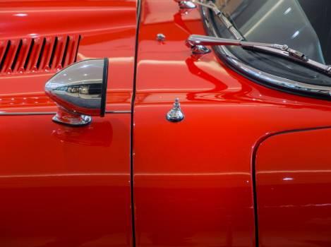 Old red veteran car Close Up - free stock photo Free Photo