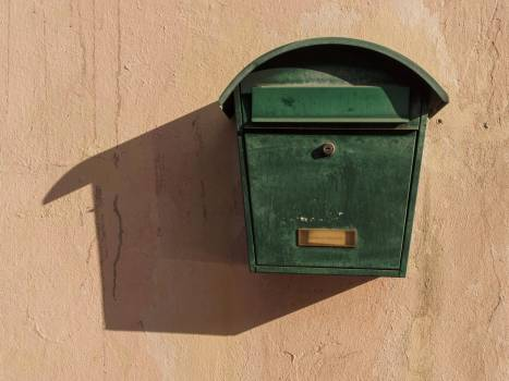 Green mailbox - free stock photo Free Photo