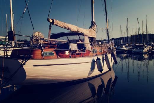Sailboat in marina - free stock photo Free Photo