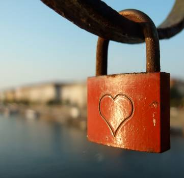 Love Lock With Heart - free stock photo #400124