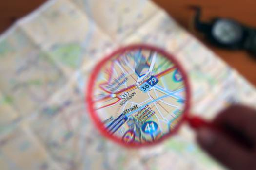 Map And Magnifier - free stock photo #400232