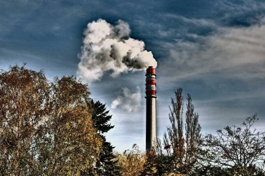 Smoking Factory Chimney - free stock photo #400380