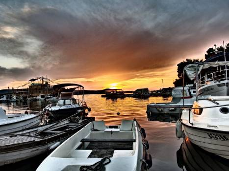 Sunset And Boats - free stock photo Free Photo