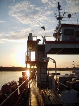 Sunset On The Ship - free stock photo Free Photo