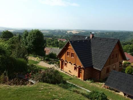 Modern Log House - free stock photo #400566