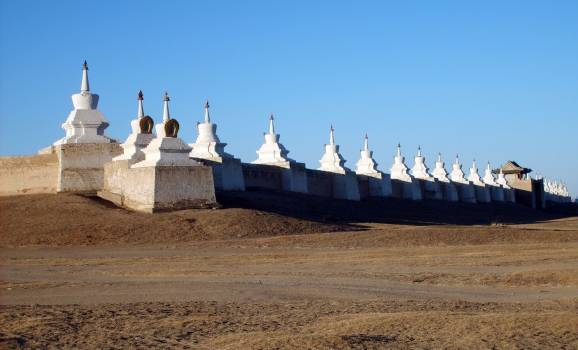 Stupa Wall in Erdene Zuu - free stock photo #400621
