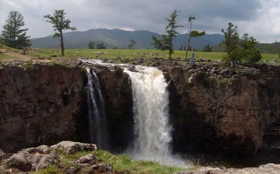 Orkhon Waterfall in Mongolia - free stock photo #400707
