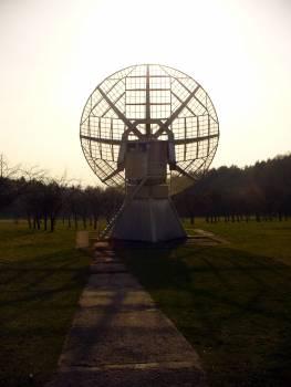 Sunset and Radio Telescope - free stock photo #400723