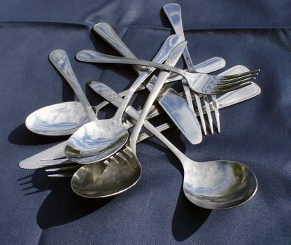 A pile of cutlery - free stock photo #400843