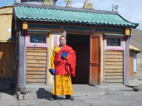 Mongolian buddhist monk - free stock photo Free Photo