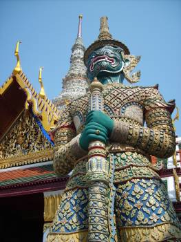 God statute in Gand Palace in Bangkok - free stock photo #401110