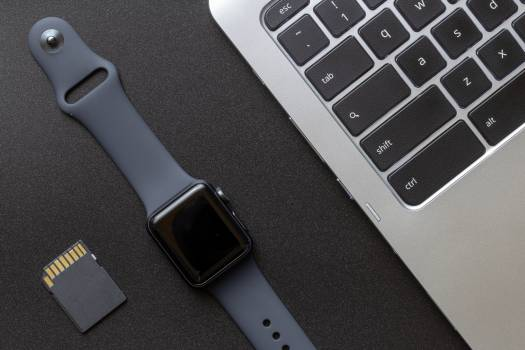 Smartwatch and Laptop Free Photo #401213
