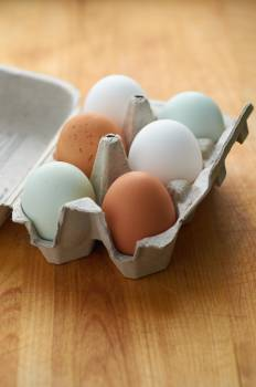 Fresh Half Dozen Eggs Free Photo #401260