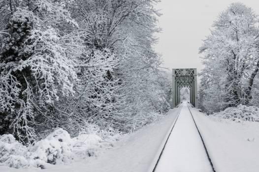 Snowy Train Tracks Free Photo #401442
