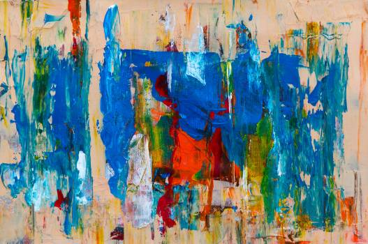 Blue Abstract Painting Free Photo #401489