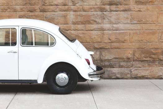 White Vintage Car Free Photo #401554