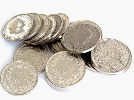 Silver 20 Round Coin Free Photo