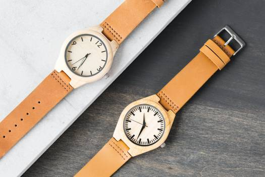 Wood and Leather Watches Free Photo Free Photo